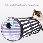 Polyester Cloth Folding Tent Toy Cat Playing Tunnel