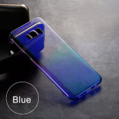 Keymao Samsung Galaxy  S8 Plus case Aurora Gradient Color Transparent Hard PC Cover