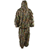 Camouflage Clothing Leafy Jungle Suit Set 3D Leafy Ghillie Suit for Hunting Birding
