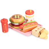 Wooden Hamburger Set Kitchen Food Toy STYLE1