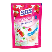 SOS Hand Soap Pouch Strawberry 300 ml