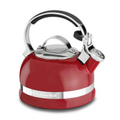 KITCHENAID Porcelain Enamel Kettles - KTEN20SBER/Empire Red Full Handle, Countoured Lid