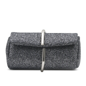 HUER Kanza Glitter Clutch Bag - Black [One Size]
