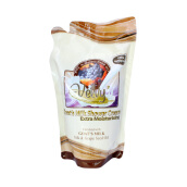 HARGA PROMO 50% MINIMUM BELI 2 - VELVY Goat's Milk Shower Cream Extra Moist Silk & Grape Seed Oil 250ml - Refill