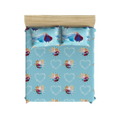 PILLOW PEOPLE Bed Sheet Set - Frozen Blue Ice Winter / 180x200cm