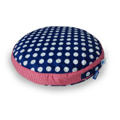 PILLOW PEOPLE Floor Bun - White Polkadot