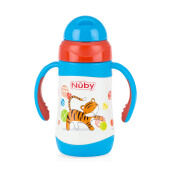 NUBY Twin Handle Stainless Tiger - 280ml