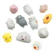 BESSKY 11PC Cute Mochi Squishy Squeeze Healing Fun Kids Kawaii Toy Stress Reliever Multicolor