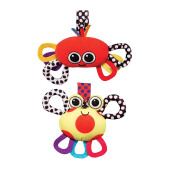 SASSY Crab Chime and Lobster Jitter-2Pk
