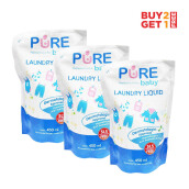 PURE BABY Combo Laundry Liquid Refill 450ml (2+1)