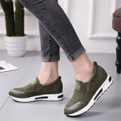 BESSKY Women Wedges Boots Platform Shoes Slip On Ankle Boots Fashion Casual Shoes _
