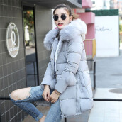 BESSKY Women Solid Thicker Winter Slim Down Lammy Jacket Hair Collar Coat Overcoat_