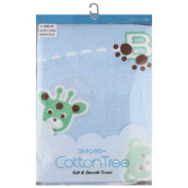 COTTON TREE Towel Handuk Animal - Blue [60x120cm]