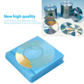 [Kingstore]100Pcs CD DVD Double Sided Cover Storage Case PP Bag Sleeve Envelope Holder