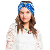 LUIRE Turban Glitter Blue [One Size]