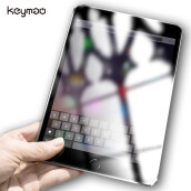 Keyamo Apple iPad Pro 10.5  Pelindung Layar screen protector glass Toughened Protective guard Tempered Glass Transparent and Black