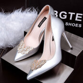 Sweet Grey Solid PU Pumps