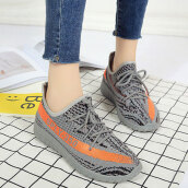 Cute Grey Patchwork Cloth Sneakers