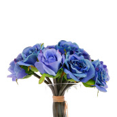 KOKOJI Artificial Rose Bouquet - Blue / KKJ-0317-42 JD