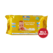 PURE BABY Hand & Mouth Baby Wipes Orange & Chamomile Oil Combo (2+1) 60's