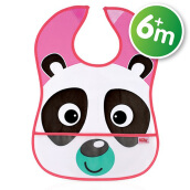 NUBY Eva Catch All Bib 1pk - Pink Panda