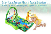 Baby Forest Gym Music Game Blanket Rack Play Mat