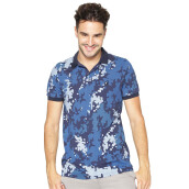 FAMO Camo Basic Polo Shirt - Blue