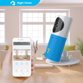 Baby Monitor WiFi IP Camera with Two-way Audio Motion Detection Night Vision(Blue)