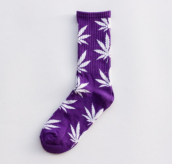 Cool My style CS-12 California skate city Maple leaf socks(about 19cm)-Purple