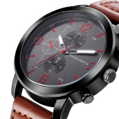 HANNAH MARTIN Men's Leather Strap Watch 2012