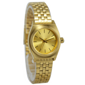 Nixon Stainless Steel Chain Ladies A399502-1039D26GLD Analog Gold Gold
