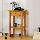 LIVIEN Furniture - Meja Sudut Nakas Minimalis - Natural Brown