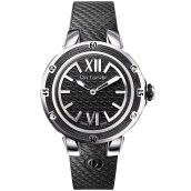 Moment Watch Guy Laroche GL6214-01 Jam Tangan Wanita - Leather Strap - Hitam Black Black