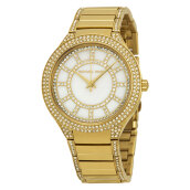 Michael Kors Kerry Pearl Dial Gold Stainless Steel Bracelet Watch [MK3312]