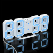 BESSKY Modern Digital LED Table Desk Night Wall Clock Alarm Watch 24 or 12 Hour Display