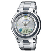 Casio Standard AW-82D-7AVDF - Fishing Gear - 10 Year Battery - Stainless Steel Band [AW-82D-7AVDF] Silver