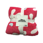 JYSK Selimut - Throw Flannel Pinky Bunny Muilticolor