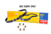 ASPIRA Paket V-Belt (V-Kit) Motor BEAT, SCOOPY, SPACY - (H2-231PA-KVY-1200)