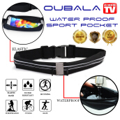 GO BELT - OUBALA Outdoor sports pockets WATER PROOF Black