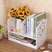 Vaping Dream - MH517 MEGAHOME Vintage Desktop Storage Rak Buku Chic White