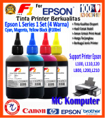 F1 Ink For Epson L Series 1Set CMYK @100 ml
