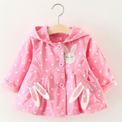 BESSKY Kids Baby Girls Toddler Winter Warm Trench Coat Windbreaker Jacket Outwear Parka_