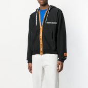 HERON PRESTON Zipped Drawstring Hoodie