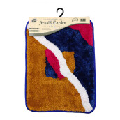 ARNOLD CARDEN Wool Handtuft Mat - Square Mix Colour / 45x65cm
