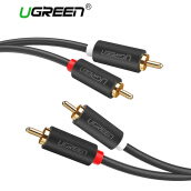 UGREEN 2RCA Male to 2RCA Male Stereo Audio Cable Gold Plated for Home Theater, HDTV, Gaming Consoles, Hi-Fi Systems