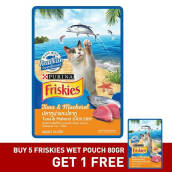 FRISKIES Wet Pouch Tuna Mack x 5 pcscFree 1 pcs 80gr