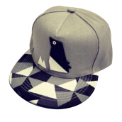 BAI B-344 Adjustable Baseball Cap MBL Hiphop cap with The Penguin design-Grey