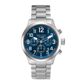 NAUTICA Watch NCC 01 Chrono Box Set Steel [NAI18509G]