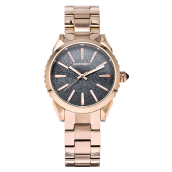 SWISS NAVY Ladies Black Glitter Dial Rose Gold Stainless Steel [8336LRGBK] Rose Gold