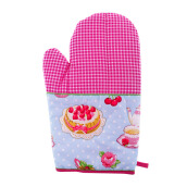 ARNOLD CARDEN Oven Mitts Tea Pot Right Side - Pink 19x32cm